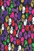 Gothic Notizbuch Bunte Sch del in Violett Rosa