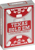Copag - Plastic Pokerkaarten - Texas Hold'em Silver - Peek Index - Red