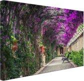 Tunnelvormige pergola Canvas 60x40 cm - Foto print op Canvas schilderij (Wanddecoratie woonkamer / slaapkamer)