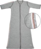 Meyco Basic Deluxe Slaapzak met afritsbare mouw - 70 cm - Grijs met roze