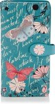 Shagwear Trendy & Funky Vrouwen Portemonnee - Vintage Butterfly / Vlinder (0298Z)