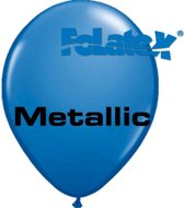 Ballonnen Metallic Blauw 30 cm 25 stuks