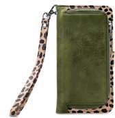 Mobilize 2in1 Gelly Wallet Zipper Case Samsung Galaxy A8 2018 Olive/Leopard