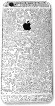 Xssive - 2x Glitter sticker voor Samsung Galaxy S6 Edge G925 - zilver - met patroon