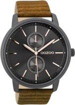 OOZOO Timepieces C9452 Zwart Bruin Rosé 45mm
