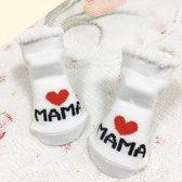 JillyBee - Baby Sokjes - Sokjes - Sokken  - Mama - Newborn - Wit