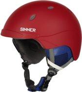 Sinner Titan Unisex Skihelm - Rood- Maat XL/62 cm