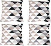 Baytex Sierkussen Triangle - BYT6189 - Zwart Wit - 4 Stuks