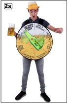 2x kostuum Het rad van bierparty