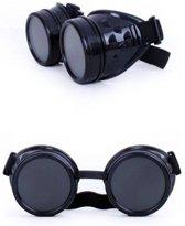 Bril Steampunk - Zwart