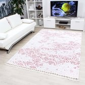 Modern Vloerkleed Malabadi Brocante Roze 80x150 cm Roze & Wit