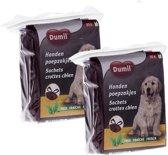 Dumil Geparfumeerde Hondenpoepzakjes Met Handvaten - 60 Zakjes - Zwart