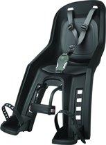 Polisport Bubbly mini+ Fietsstoeltje Voor - Zwart/grijs