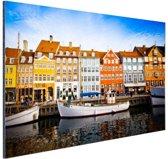 Nyhavn Kopenhagen Aluminium 120x80 cm - Foto print op Aluminium (metaal wanddecoratie)