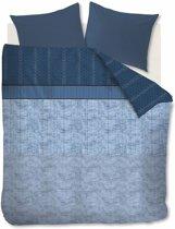 Beddinghouse Camaro - Dekbedovertrek - Katoensatijn - 200x200/220 cm - Blauw