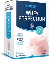 Body & Fit Whey Perfection - Eiwitpoeder / Eiwitshake - 336 gram box - Strawberry milkshake