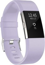YONO Siliconen bandje - Fitbit Charge 2 - Lila - Large