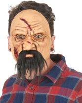 Gewonde oude man masker voor volwassenen - Verkleedmasker