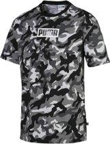 PUMA Rebel CAMO Tee Shirt Heren - PUMA Black - Maat L