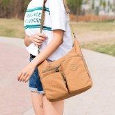 Leisure Fashion nylon waterdichte Slant Schoudertas (beige)