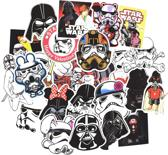Mix van 50 Star Wars stickers met coole en grappige designs. Voor laptop, auto, telefoon, muur etc.