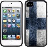 Case Creatives Telefoonhoesje Vlag van Finland - iPhone 5 5s  Zwart - Handgemaakt