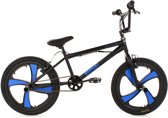 Ks Cycling Fiets 20'' freestyle-BMX Rise mag wheel zwart - 28 cm