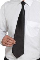 Zwarte stropdas - Gangster stropdas deluxe
