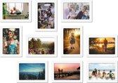 Magnetische fotolijst - foto 10x15 cm - wit - 10 stuks