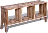 Tv-meubel met 3 vakken gerecycled teak stapelbaar