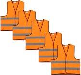 Veiligheidshesje - Veiligheidsvest - Volwassene - Oranje - 5 stuks