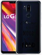 LG G7 Hoesje Mood for Food Black