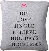 Bloomingville Sierkussen Kerst Joy Love Jingle - Grijs