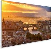 Uitzicht op de Ponte Vecchio in Italië Plexiglas 180x120 cm - Foto print op Glas (Plexiglas wanddecoratie) XXL / Groot formaat!