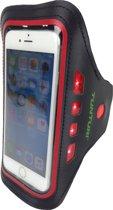 Tunturi LED telefoon armband Rood
