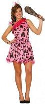 Roze holbewoner kostuum voor dames M