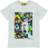 Losan Jongens Shirt Wit met print K50 - Maat 128