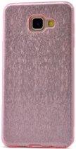 Teleplus Samsung Galaxy A810 2016 Glitter Custom Made Silicone Case Pink hoesje