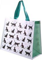 2 stuks boodschappentassen katten 33x40x16.5 cm