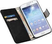 LELYCASE Book Case Flip Cover Wallet Hoesje Samsung Galaxy Mega 5.8  Zwart