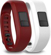 Garmin Vivofit 3 - Siliconen Activity Tracker Bandjes - Rood en Wit - Regular