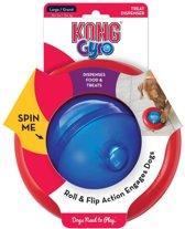 Kong Gyro Voerbal L - Rood/Blauw - 17 x 17 x 9.5 cm