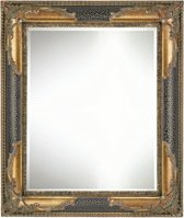 Moderne Wand Spiegel Jeremy Buitenmaat 56x66cm Zwart-goud