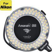 Aputure Amaran HN100 Halo Ring Flash - 100 CRI 95+ LEDs, 8 Adapter Rings voor Nikon