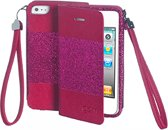 Celly - GLAMme booktype hoes - iPhone 4 / 4s - roze