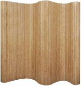 vidaXL Kamerverdeler natuurlijk bamboe 250x195 cm