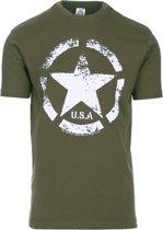 Fostex t-shirt US ARMY Star vintage groen