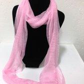 Fashionidea - Mooie licht roze zijde zachte glimmende sjaal
