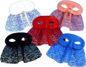 PartyXplosion - Oogmasker - Met kanten sluier - Blauw