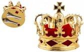 Mini konings kroontje goud